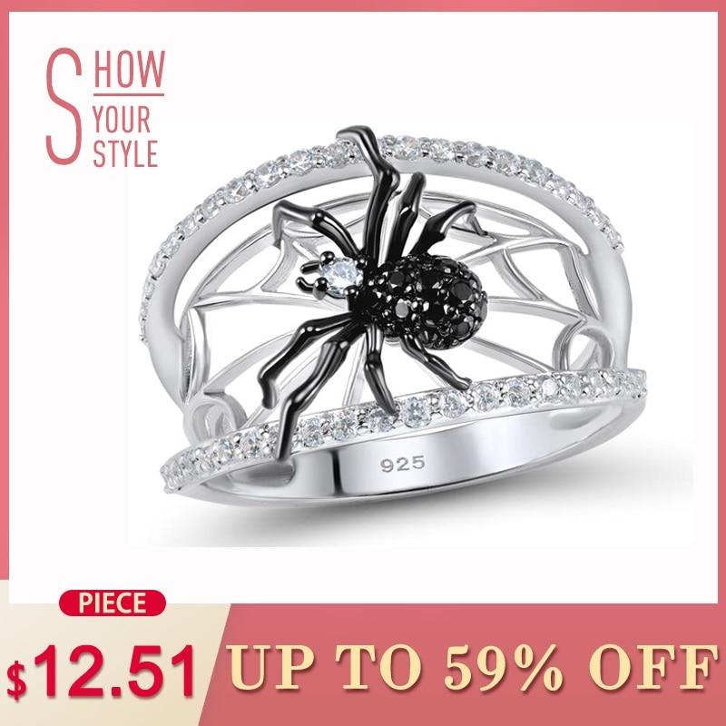 SANTUZZA сребърно паяк пръстен за жени 925 - Модни бижута