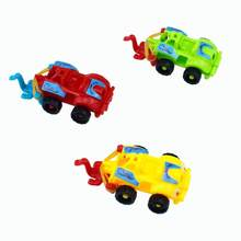 1PC DIY Plastic Assembled Racing Car Model Toy Motorcycle Kids Education Mini Toys for Children Christmas Gifts Random Color(China)