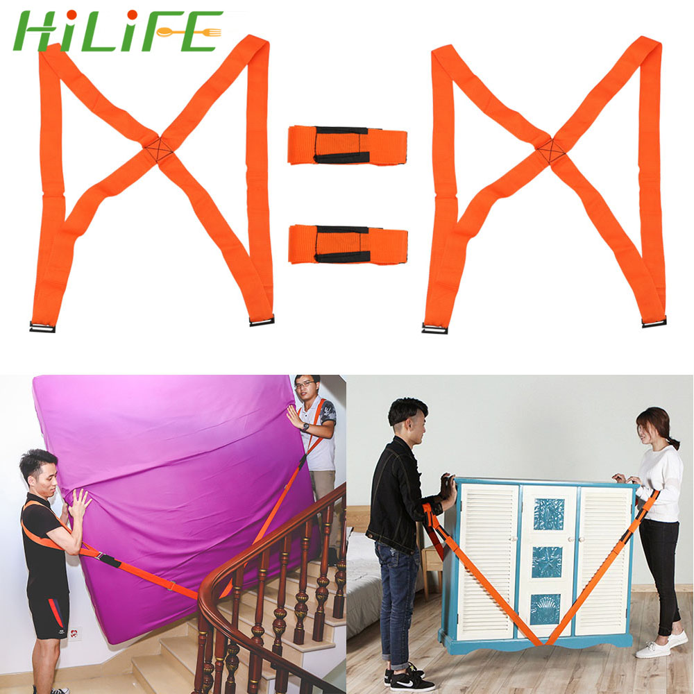 HILIFE 4pcs/set Shoulder Straps For Home Move House Cleaning Carrying Rope Easier Mover Furniture Transport Belt Moving Strap