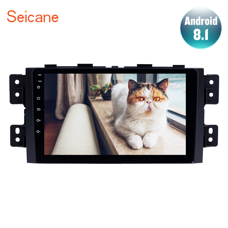 Seicane 9 polegada rádio Da Tela De Toque Android 8.1 Do Bluetooth Estéreo Do Carro GPS Navi Para 2008-2016 KIA Borrego com ligação espelho WI-FI AUX