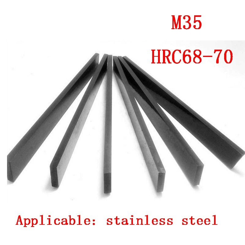8*10*12*16*18*20*25*30*200mm Exceed Hard White Steel Knife Bar Turning Stainless M35 Contain Cobalt HRC68-70 HSS