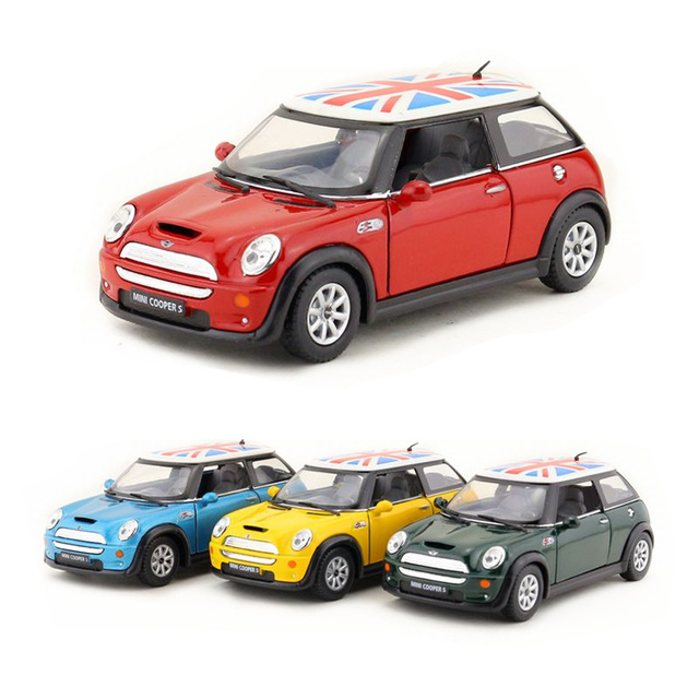 Free Shipping/KiNSMART Toy/Diecast Model/1:28 Scale/Mini Cooper S  Britain/Pull Back Car/Educational Collection/Gift/Kid