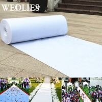Large White Carpet Wedding Aisle Floor Runner Stage Party Rug Festive Party Events Supplies Wedding Decoration 22.5x1m/45x1m