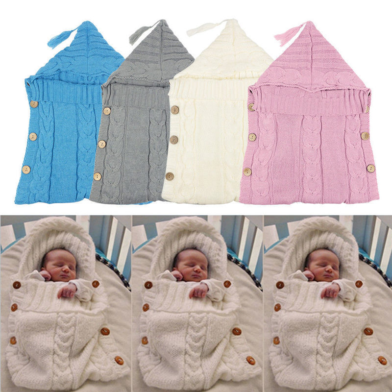 US Baby Swaddle Wrap Newborn Infant Solid Color Sleeping Bag Cotton Sleepsack