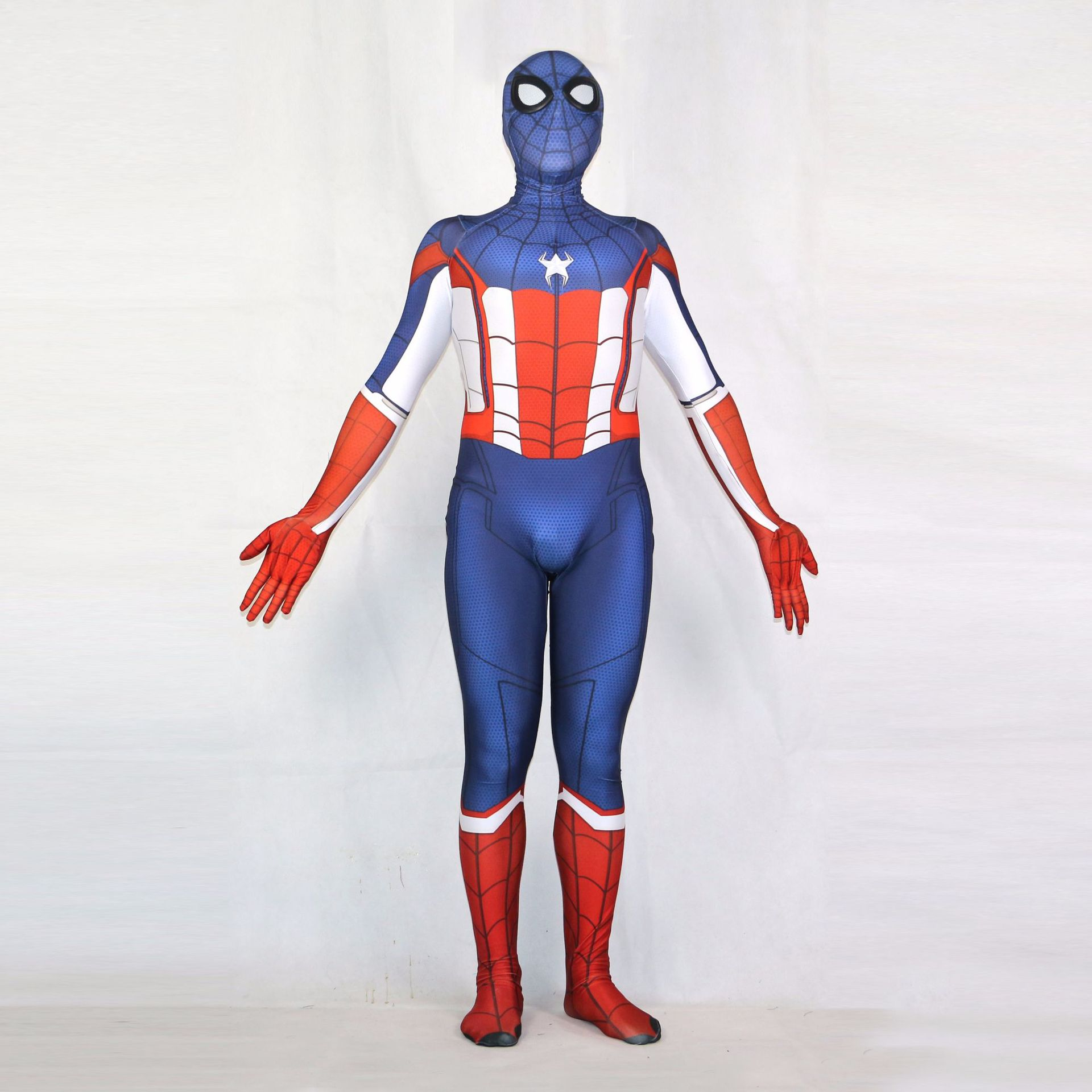 Spiderman Tights Cosplay Costume Zentai Captain America Spider Man Superhero Bodysuit Suit Jumpsuits Halloween Party Porp