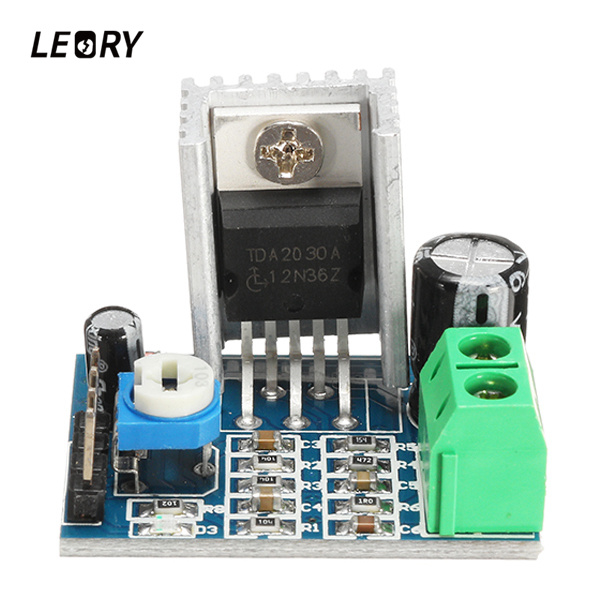LEORY TDA2030A Mono 18W Audio Amplifier Module Board 10K Adjustable Resistance Power Amplifier 6-12V