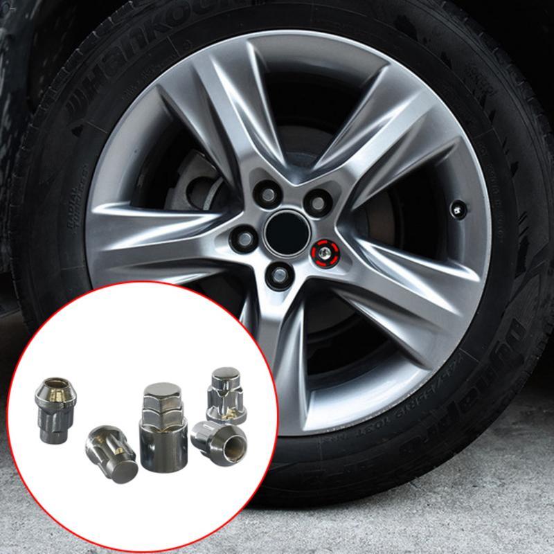 4+1 Universal Professional Car Hub Anti Theft Nut Car Modification 25mm Tire Anti Theft Screw Set