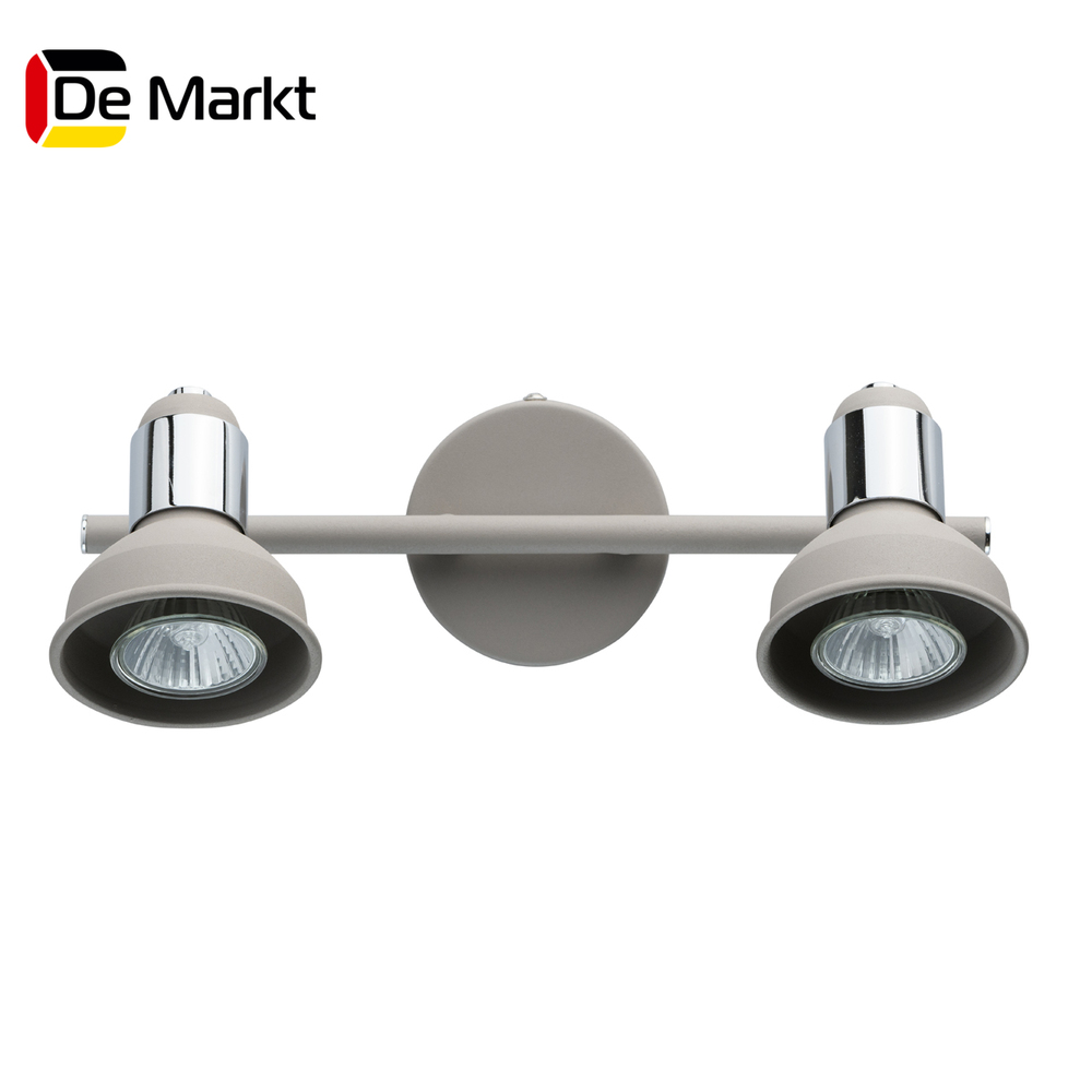 Wall Lamps De Markt 552020502 lamp Mounted On the Indoor Lighting Lights Chandelier spots [dbf] 10w 15w led crystal mirror wall lamp bathroom lights 90 260v stainless sconces indoor crystal lighting 44 54cm