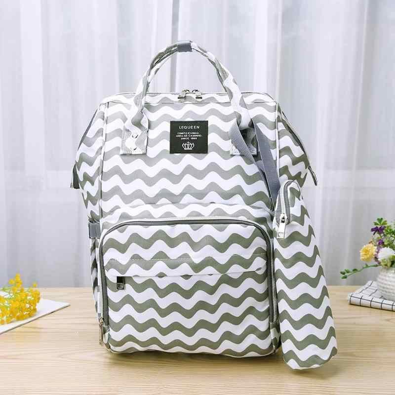 Usb зарядка мягкий подгузник сумки Водонепроницаемая Сумочка для беременных большой емкости мать путешествия рюкзаки детские подгузники сумка для прогулки с ребенком уход