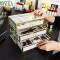 Schublade Schmuck Make-Up Lagerung Box Halter Stud Ohrringe Ring Armbänder Organizer Fall Hause Acryl Kosmetische Lagerung Rack