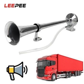 LEEPEE Universele Enkele Trompet Super Luid Auto Luchthoorn 12 V 130DB 17.7 Inch voor Vrachtwagens auto Automobiles Speaker Compressor