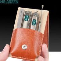 Tagliaunghie professionale MR.GREEN in acciaio inossidabile set home 4 in 1 strumenti per manicure kit per toelettatura art portable nail personal clean