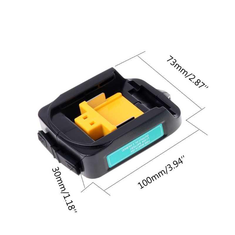 Pengisi Daya USB Adaptor Converter untuk Makita Adp05 Bl1815 Bl1830 Bl1840 Bl1850 1415 14.4-18V Li-ion Baterai