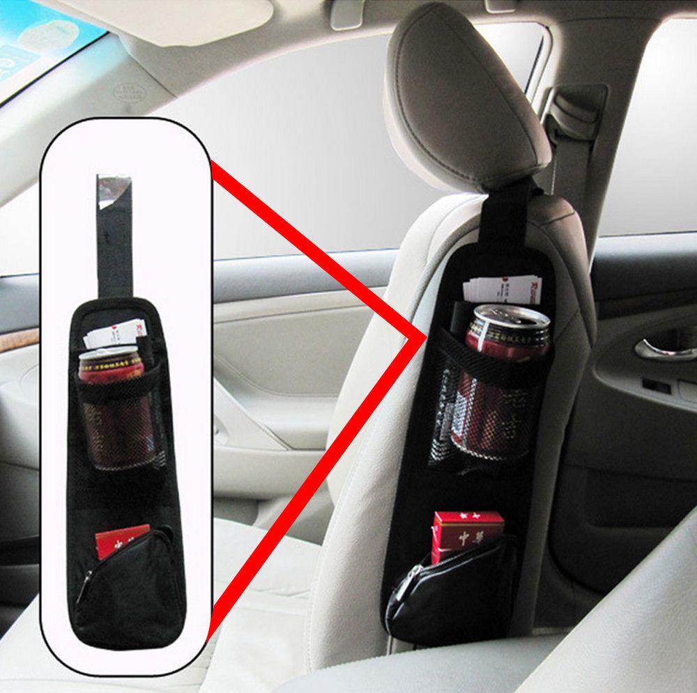 Auto Car Seat Bag SIDE Hanging Bag Storage Mesh Pocket Organizer Holder Comely