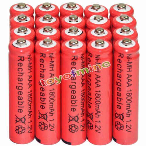 4/8/16/24/32/48 шт. AAA 1800 мАч 3A 1,2 никель-металл-гидридный аккумулятор с напряжением красный аккумуляторная батарея для MP3 игрушки с дистанционным управлением