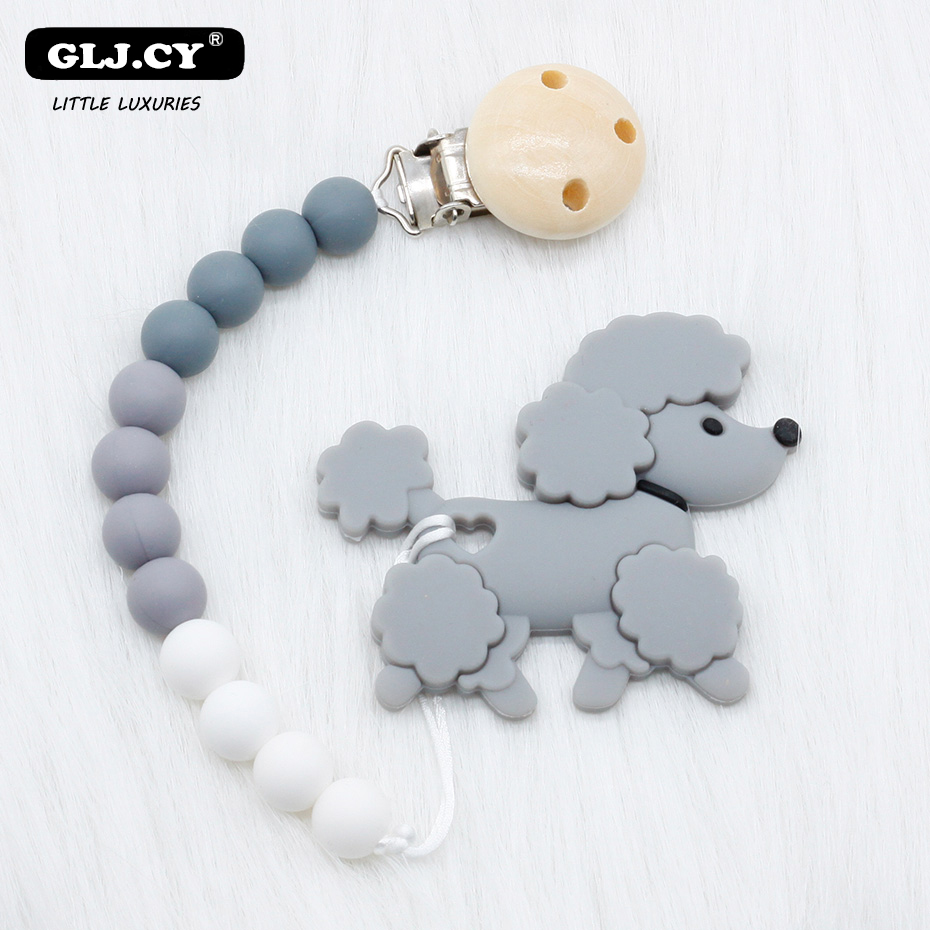 Full Silicone Personalised Dummy Clip Chain Red Grey Baby Boy Car Pacifier