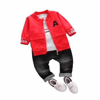 38d8652a8 Conjuntos de ropa para bebés y niños, monos de algodón para niños y niñas,  abrigo + Camiseta + ...
