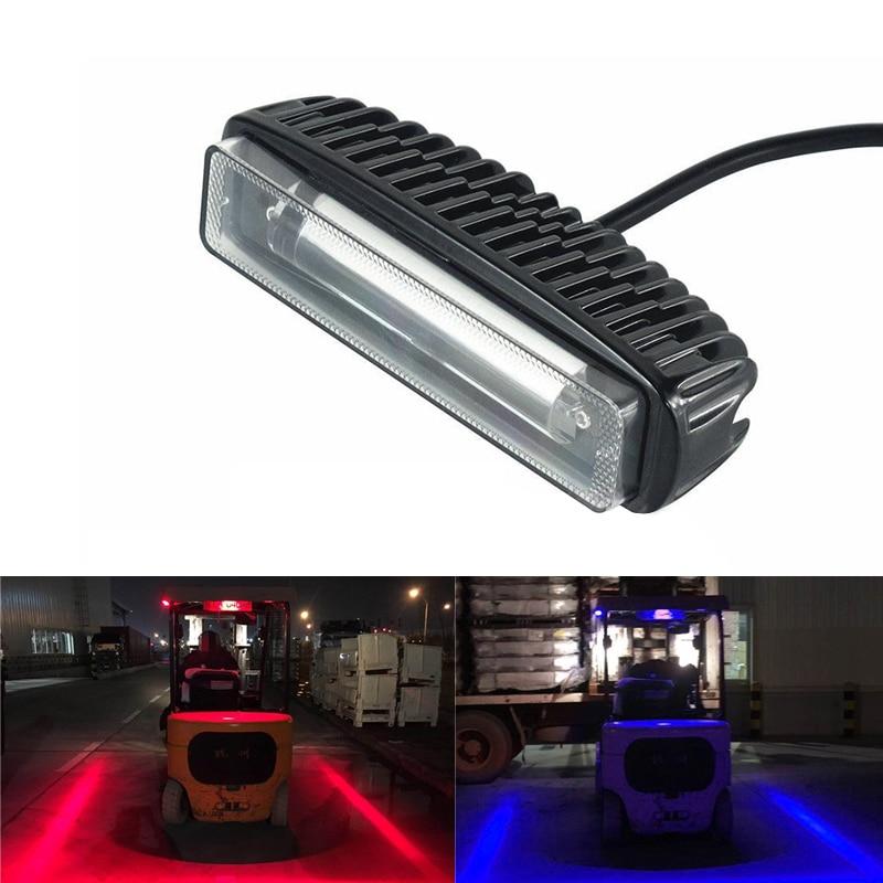 Blue Red Line LED Forklift Warning Light Car Truck Safety Working Spot Lamp 30W
