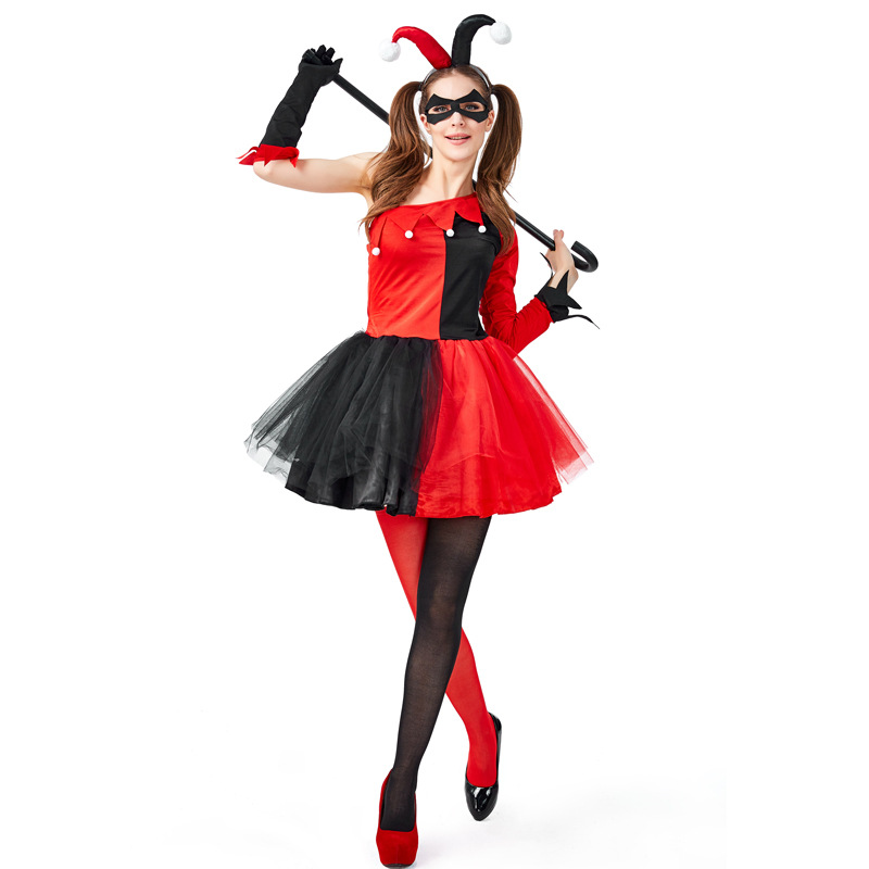 Harley Quinn Costume Women Suicide Squad Cosplay Adult Halloween For