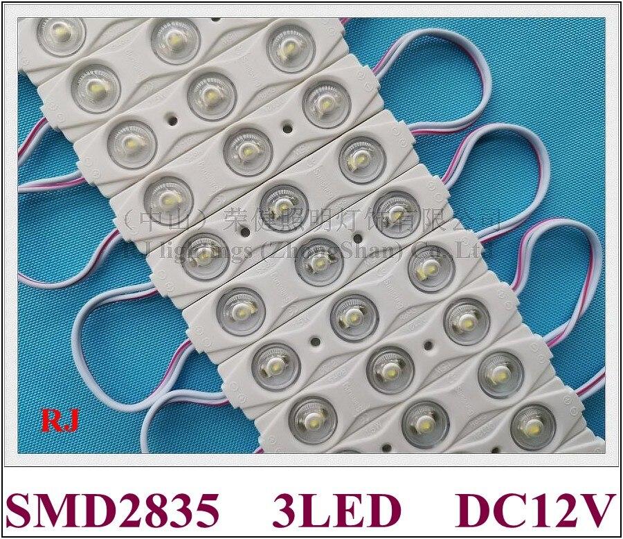 injection LED module with lens SMD 2835 DC12V 3 led 1 5W 150lm IP65 82mm 18mm