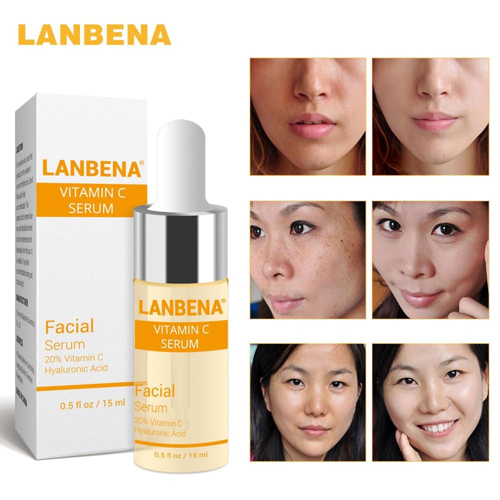 Buy 3 Get 1 Gift Lanbena Vitamin C Whitening Serum Hyaluronic Acid Face Cream 3pcs + 24k Gold Peptide Wrinkles Facial Cream