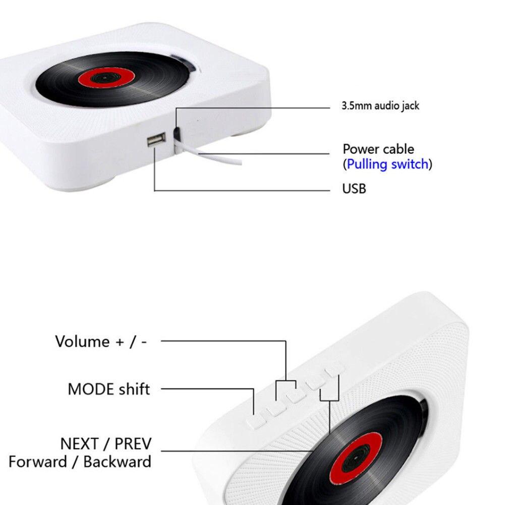 MP3-CD lecteur mural maison FM Radio intégré double Mode pour iPhone Smartphone - 5