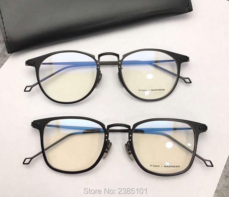 New 100 Pure Titanium Luxury Brand Round Eyeglasses Men Women Optical Spectacle Frame Eye Prescription Glasses