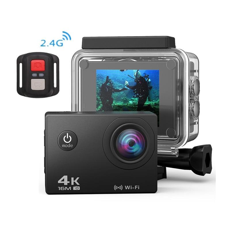 Камера движения 4 K WiFi Водонепроницаемая DV 24G дистанционное управление подводная видеокамера