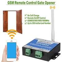2G 3G GSM Gate Opener Relais Schakelaar Telefoon Draadloze Afstandsbediening Deur Toegang Draadloze Opener Door Gratis Call RTU5024/RTU5035