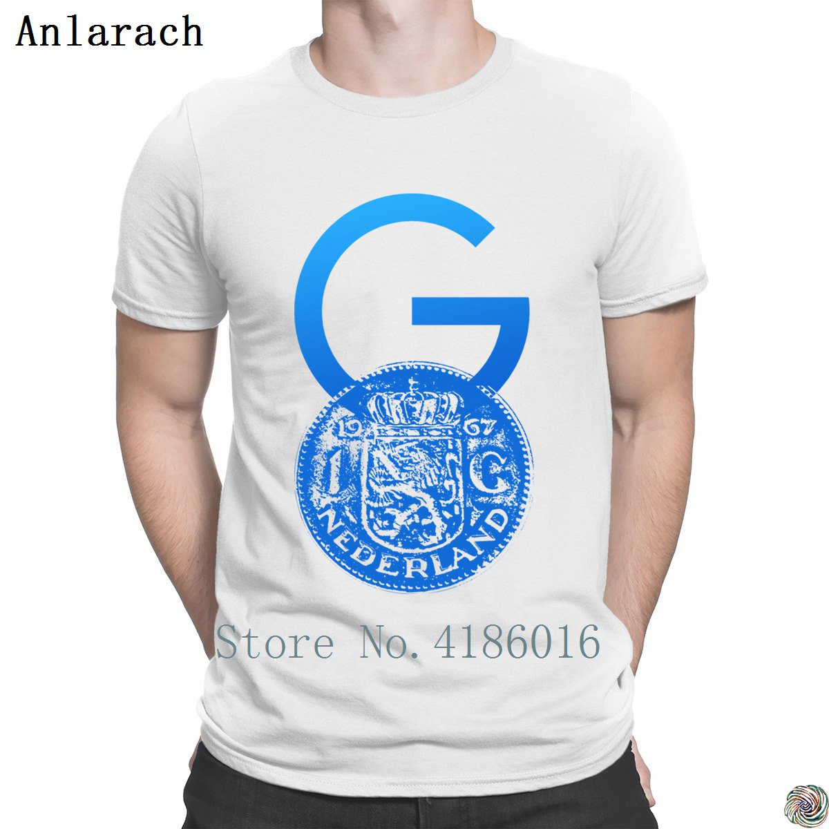 Crypto Gulden Symbol With One Guilder Coin T-shirt Male Great Customize Summer Style Men's Tshirt HipHop Top  Letters