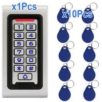 Waterproof Keypad RFID ID Card Reader Door Access Control+10x RFID Card Keyfobs