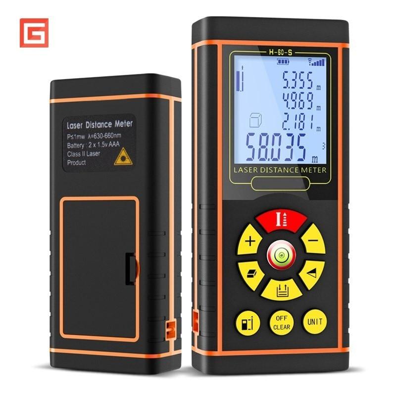 40/60/80/100m Electronic Digital Laser Rangefinder Distance Lazer Meter Optical Range Level Finder Measurement Instruments Tool