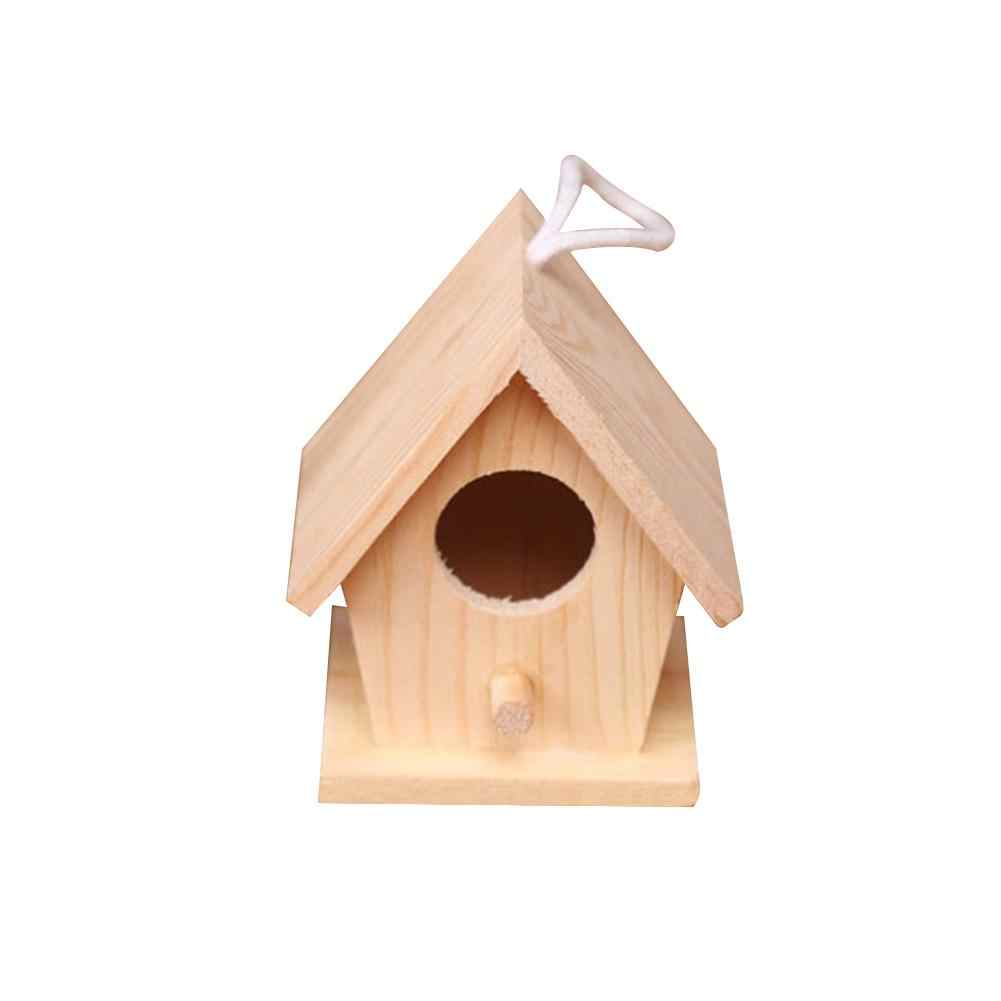 New Bird Nest Wood Parrot Breeding Box Bird's Hanging House Bird's Cage Family Gardening Desktop Decorating Parrot Bed