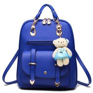 Image 5 - 女性 mochila 女性 bagpack 女の子ための十代の簡潔な女性のバックパックバッグ嚢 a ドスバックパック sırt çantası ミニバックパック
