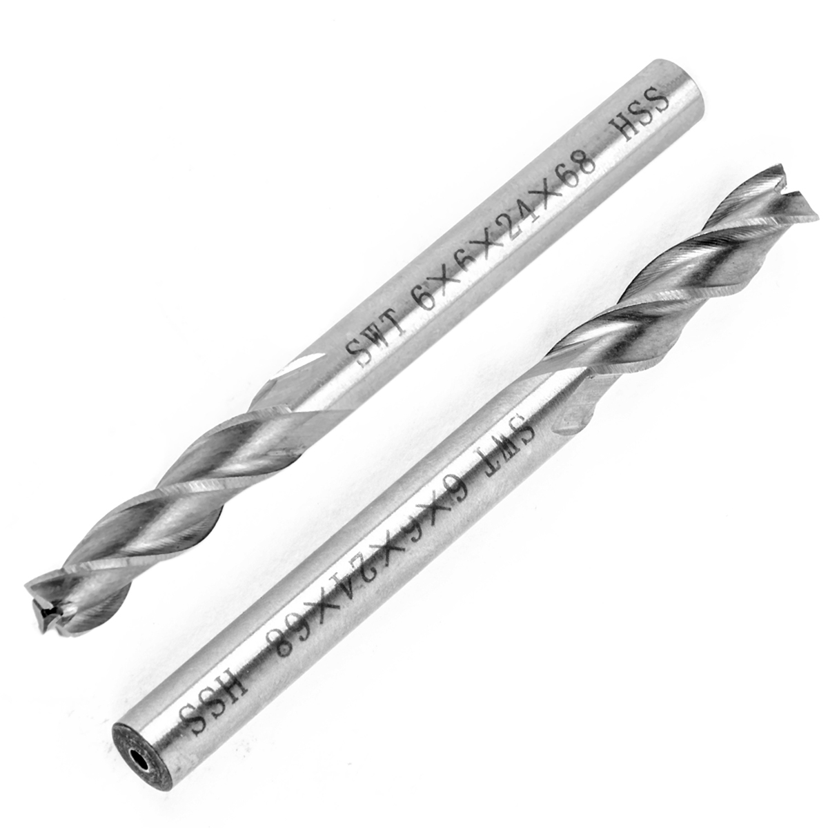 1pc 3 Flutes HSS End Mill 6mm Shank MIlling Cutter Extended CNC Bit Durable Tool For Woodworking
