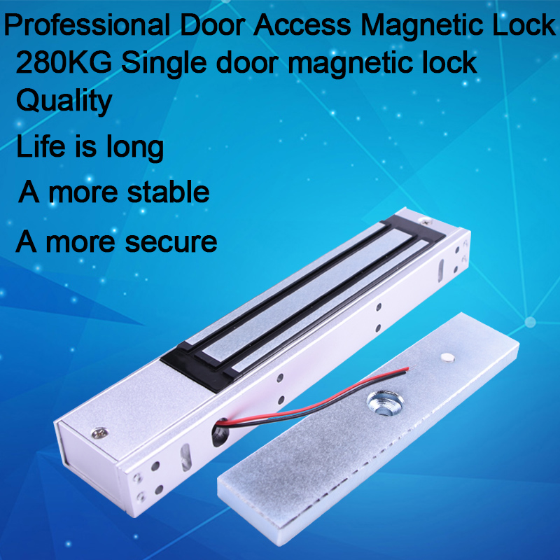 Eseye 280kg Magnetic Lock Electric Lock12V Door Lock (600LB) Holding Force For Access Control Single Door Electromagnetic Lock 12v 24v 280kg single door magnetic electromagnetic lock 600lb holding force for door access control system
