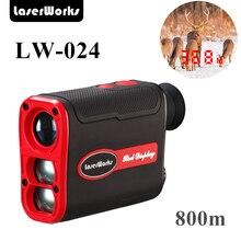 LaserWorks 800PRO лазерный дальномер 800 м с подсветкой ЖК-дисплей Дисплей для День и ночь работает