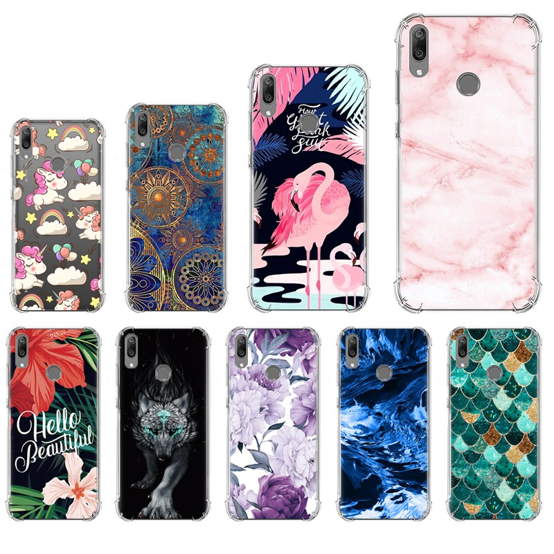 Anti-knock Phone <font><b>Cover</b></font> For <font><b>Huawei</b></font> <font><b>Y7</b></font> <font><b>2019</b></font> Stylish Painted Colorful Painted Back Phone <font><b>Case</b></font> image