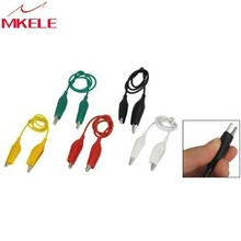 цена на 10Pcs 5-Colors Double Ended Cable Battery Alligator Testing Cord Clip To Banana Clamp Test Leads Lead Jumper Wire 50cm Diy Kit