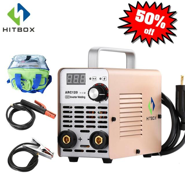 HITBOX Arc Welder MMA Welding Machine Arc120 IGBT Technology Arc Welding Tool Home Use 120A Single Phase 220V