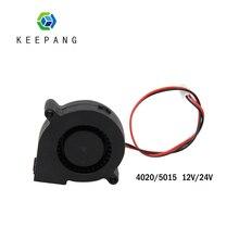 Kee Pang 4020 5015 chłodzenia wentylator do 3D wentylator drukarki 12V/24V chłodzenie chłodnicy Turbo wentylator 2 Pin wytłaczarki DC Clooer dmuchawy czarny
