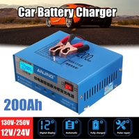 ANJING AJ 618E 130V 250V 200AH Automatic Battery Charger Intelligent Pulse Repair Battery Charger 12/24V