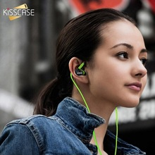 KISSCASE Sport Music Game Earphones For Samsung  In Ear Earbuds HIFI Sport Headphones Bass Headset with Mic For Smartphone