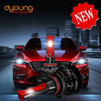 Dyoung z1 new led headlight 6000k car light h4 LED Lamp h7 h11 h8 h9 9004 9005 9006 9007 h1 h10 h16 H27 9012 bulbs car styling