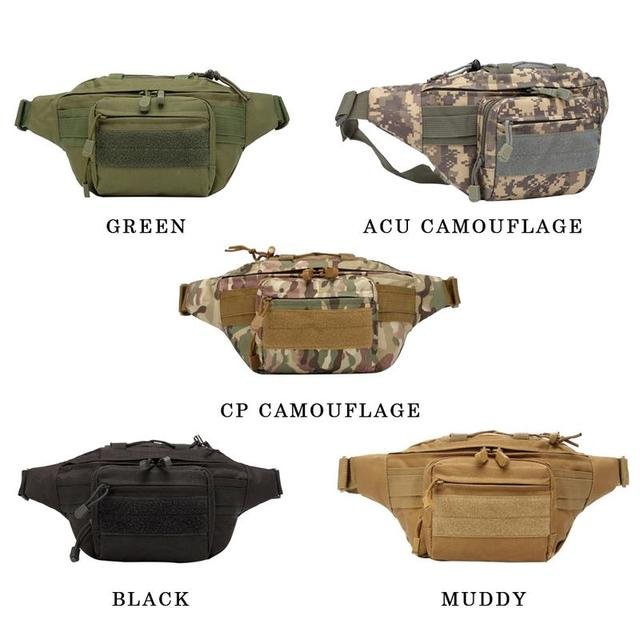 Outdoor Waist Bag Single-shoulder Multi-functional Waist Bag Camping Cycling Tactical Camouflage Waist Bag