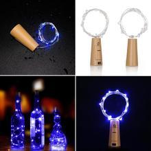 1,5 м 15-светодиодный медный провод свет шнура с пробкой бутылки вечерние лампы декора