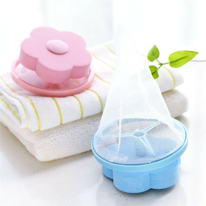 Image 5 - Filter Bag For Washing Machine 1Pcs Flower Wash Machine Ball Hair Lint Fluff Grabbing Remover Reusable Hair Removal Laundry Ball-in Laundry Balls & Discs from Home & Garden