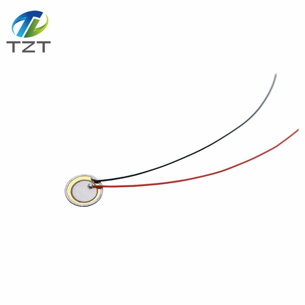 10 Pcs Piezoelectric Piezo Ceramic Wafer Plate Dia 15mm For Buzzer Loudspeaker O