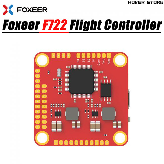 Foxeer F722 AIO F7 Dual Flight Controller STM32F722RGT6 Built in Dual gyroscopes MPU6000 and ICM20602 OSD