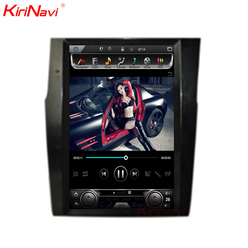 KiriNavi Vertical Screen Tesla Style 12.1inch Car Radio Gps Navigation For Citroen C4 Android multimedia WIFI 2012 2016
